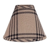 Chesterfield Check Lampshade Oat-Black 10