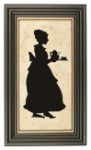 Woman Serving Tea Silhouette