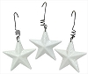 Mini Whte.Gltr. 3-D Star Ornament