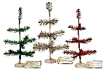 Tinsel Tree (Set of 3)