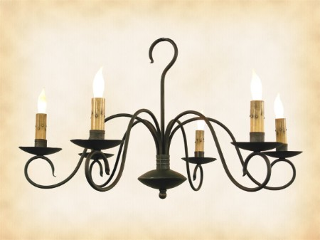 Franklin wrought iron chandelier mozeypictures Image collections