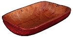 Small Rectangular Bread Bowl Red