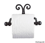 WROUGHT IRON  SCROLL TOILET TISSUE HOLDER