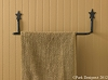 WROUGHT IRON STAR TOWEL BAR