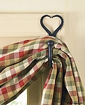 Wrought Iron Curtain Hooks Split Heart