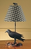 Crow Iron Lamp