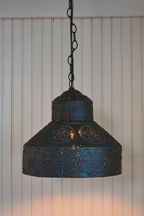 punched pendant light