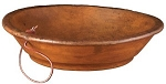 MEDIUM PRIMITIVE DOUGH BOWL W/HANGER - STAIN
