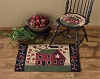 Red House Hooked Rug