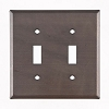 Plain Tin Double Switchplate