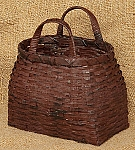 Two Handled Basket - Burgundy