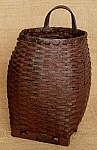 Drum Basket With Feet - Burgundy