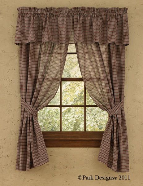 Country primitive and early american curtains and home decor