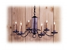 Tufton Wrought Iron Chandelier
