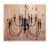 Summit Loop Wrought Iron Chandelier