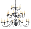 Spinnaker Wrought Iron Chandelier