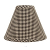 Newbury Gingham Lampshade Black 14
