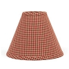 Newbury Gingham Lampshade Barn Red 14
