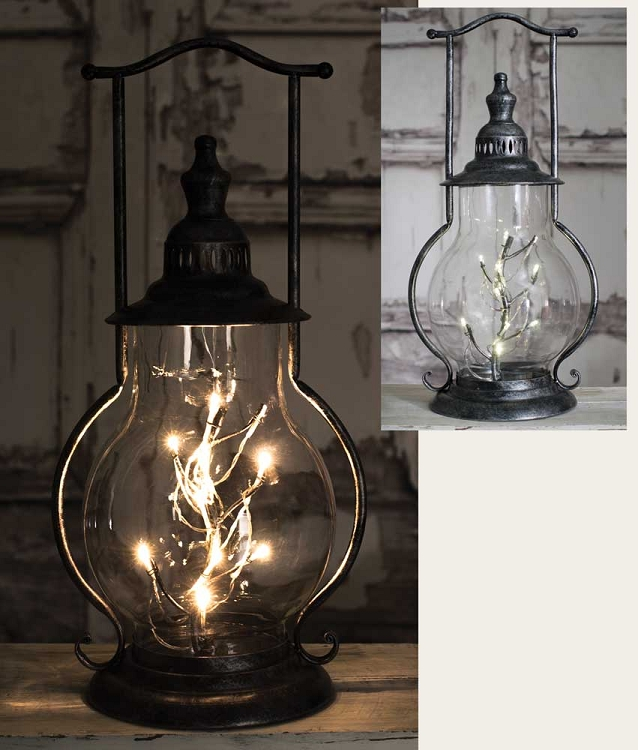 Home table lamps wrought iron table lamps angel tears steeple lantern