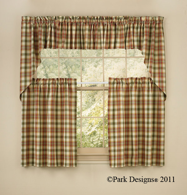 Homespun Country Curtains Valances Swags Tiers Curtain