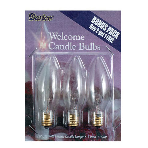 Electric Candle Bulbs 7 Watts 3 Pieces