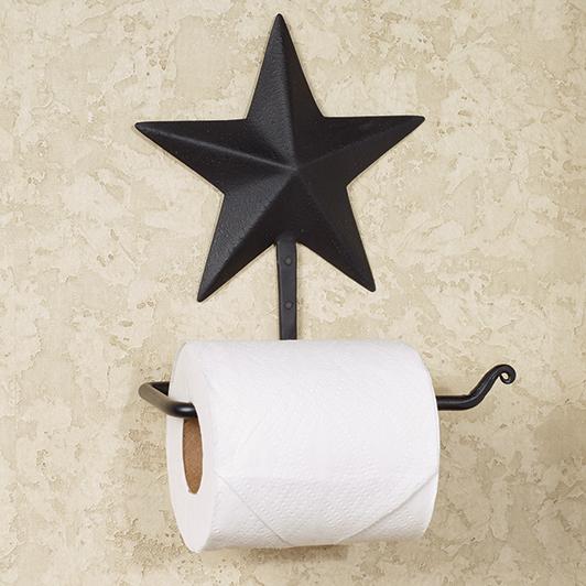 Black Barn Star Toilet Paper Holder