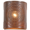 Chisel Sconce Light in Rustic Tin