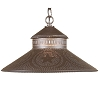 Shopkeeper Shade Pendant Light Star in Blackened Tin