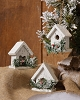 SNOWY VILLAGE - MINI BIRDHOUSE SET