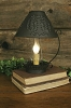 Willow Lamp with Shade and Chimney - Rustic Brown