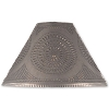 Flared Shade with Chisel Design in Blackened Tin