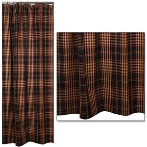 Village Plaid Shower Curtain 72x72
