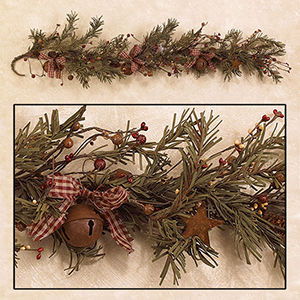 4 primitive christmas garland - Primitive Christmas