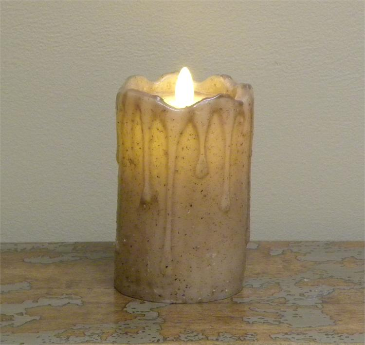 Flameless Candle Lifelike Motion Flickering Flame Tan