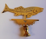 Jumping Fish Lamp Finial
