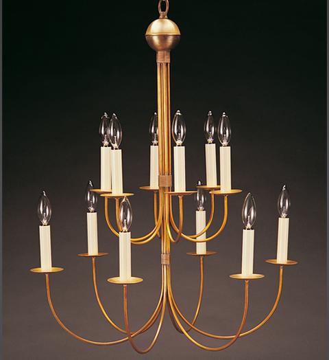 12 Arm Brass Chandelier