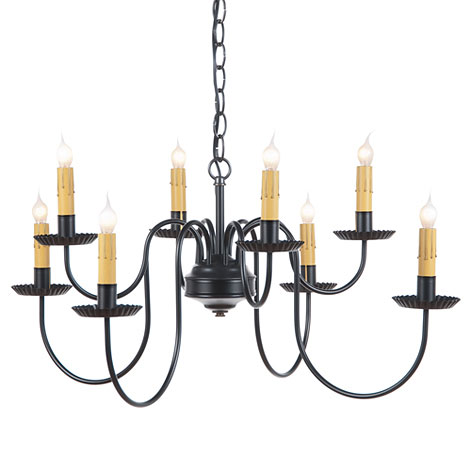Tin and Wrought Iron Chandeliers