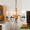 Medium Norfolk Chandelier in Sturbridge Mustard