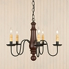 Medium Norfolk Chandelier in Sturbridge Red