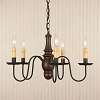 Lynchburg Chandelier in Sturbridge Red