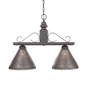 Wellington Medium Hanging Light in Black over Red