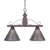 Wellington Medium Hanging Light in Plantation Red