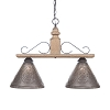 Wellington Medium Hanging Light in Pearwood