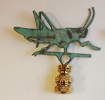 Grasshopper Lamp Finial