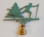 Cross Country Skier Lamp Finial