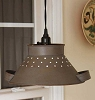 June's Pendant Colander Lamp - Rusty Grey