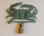Crab Lamp Finial