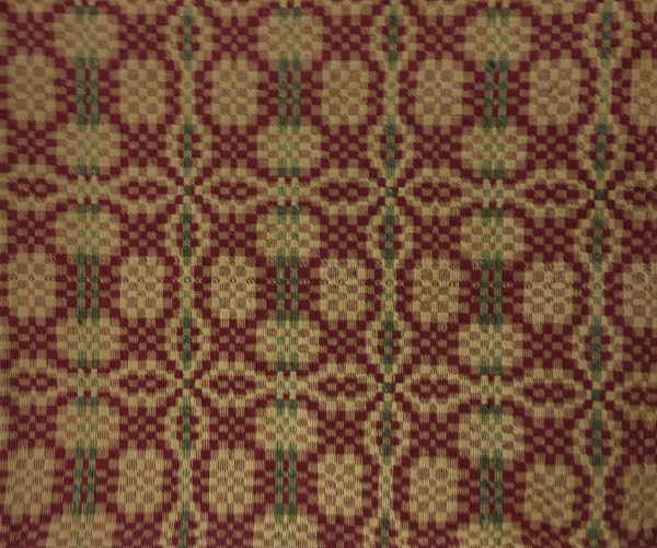 THE PATRIOT KNOT SHOWER CURTAIN GREEN/CRANBERRY/TAN