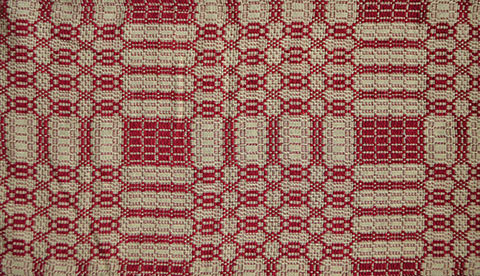 Home Homespun Country Curtains Shower THE WESTBURY SHOWER CURTAIN CRANBERRY TAN