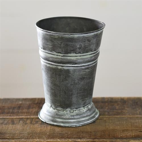 7 Old Tin Vase